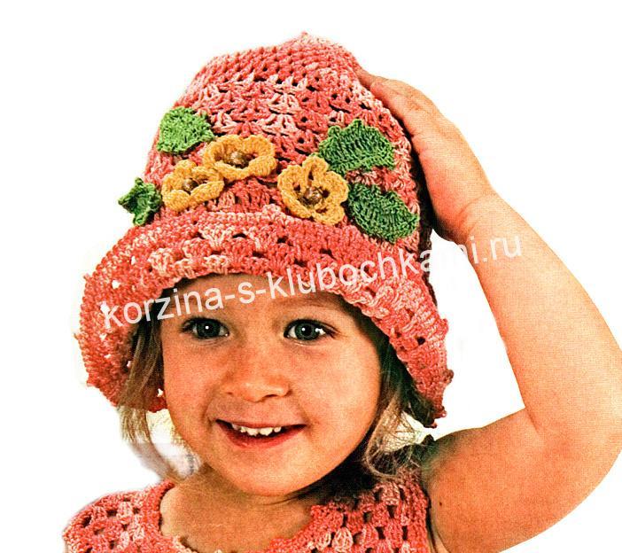 шапочка для девочки 3